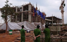 Sập giàn giáo công trình đang xây, ít nhất 8 người bị thương