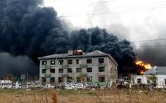 Cháy hóa chất tại nhà máy dược Trung Quốc, 10 người thiệt mạng