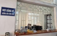 Nam Định thay thế, thu nhỏ ô kính tại nơi đăng ký tiếp dân