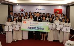 Học bổng Hitejinro trị giá 200 triệu được trao đến sinh viên Việt