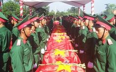 An táng 98 hài cốt liệt sĩ Việt Nam hi sinh ở Lào