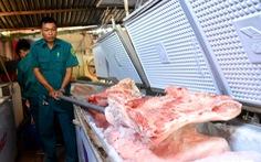 Tiêu hủy hơn 4 tấn thịt bị dịch tả heo châu Phi tại một kho lạnh