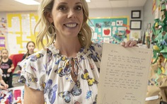 Lan tỏa lòng tốt từ một cô giáo Mỹ