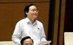 Bộ trưởng Phùng Xuân Nhạ: Chưa thể kết thúc sớm việc điều tra gian lận thi cử