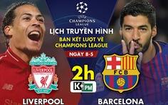 Lịch trực tiếp Liverpool gặp Barca