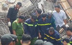 Sập giàn giáo nhà đang xây, 1 người chết, 1 người bị thương