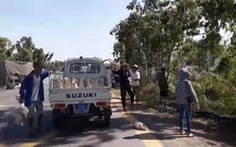 Lật xe chở gần 2.000 con vịt, người giúp tài xế, người ra tay 'hôi của'