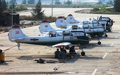 Một buổi huấn luyện bay IaK-52 ở Trung đoàn 920