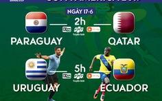 Lịch trực tiếp Copa America ngày 17-6