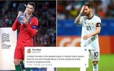 Dân mạng 'chế' hình ảnh Messi viết thư 'cầu cứu' Ronaldo