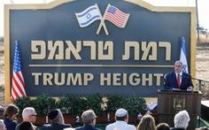 Israel công bố khu tái định cư mang tên ông Trump ở cao nguyên Golan