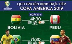 Lịch trực tiếp Copa America ngày 19-6: Chờ Brazil đi tiếp