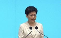 Bà Carrie Lam lại xin lỗi người dân và xin thêm cơ hội