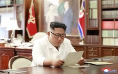 Chủ tịch Triều Tiên Kim Jong Un nhận lá thư 'tuyệt vời' của tổng thống Trump