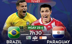 Lịch trực tiếp tứ kết Copa America 2019: Brazil gặp Paraguay