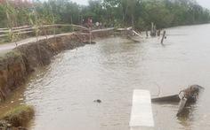 Kè đê sông Gành Hào chưa xong đã bị… sạt lở