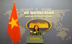 Bộ Ngoại giao: 'Việt Nam kiên quyết bảo vệ chủ quyền ở Biển Đông'
