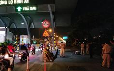 Một thầy giáo tử vong do đụng phải trạm thu phí trên xa lộ Hà Nội