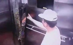 Một người Hàn đạp vỡ bảng điều khiển thang máy trong chung cư ở Sài Gòn