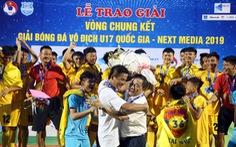 Phá huông ở chấm 11m, Thanh Hóa đăng quang Giải U17 quốc gia 2019