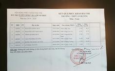 Bị ghép nhầm phách, 7 thí sinh thi vào lớp 10 suýt bị điểm dưới trung bình