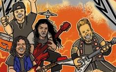 Ban nhạc rock huyền thoại Metallica tham gia làm sách thiếu nhi