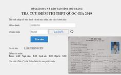 Sở GD-ĐT tỉnh 'lỡ tay' công bố điểm thi trước 'giờ G'?
