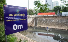 Xả nước vào sông Tô Lịch để giảm ngập cho Hà Nội