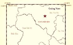 Động đất 3,8 độ Richter ở Quảng Nam