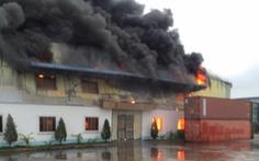 Xưởng công ty may 100% vốn Đài Loan tại Hải Dương cháy rụi