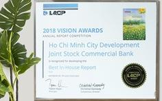 Báo cáo thường niên HDBank đạt giải Bạch kim quốc tế