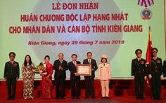 Kiên Giang đón nhận Huân chương Độc lập hạng nhất