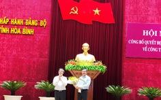 Phó trưởng Ban Kinh tế Trung ương về làm phó bí thư Hòa Bình