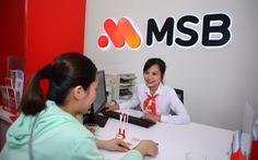 MSB: lợi nhuận trước thuế tăng 192%