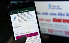 Hơn 2.000 bạn đọc 'Chung tay cùng Tuổi Trẻ' trên ví điện tử MoMo