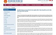 Bộ GD-ĐT nói không kết luận 58 bài thi điểm 0 do 'lỗi thí sinh'