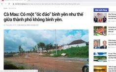 Đề nghị xử lý bài viết 'ốc đảo bình yên' về chủ tịch tỉnh Cà Mau