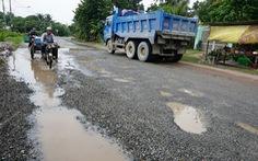 Quốc lộ 80 qua tỉnh Kiên Giang hư hỏng nặng