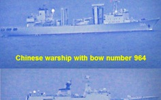 Philippines cảnh báo việc tàu chiến Trung Quốc liên tục xâm phạm