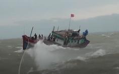Tàu cá bị đâm chìm khi vào bờ tránh bão, 2 ngư dân mất tích
