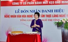 Tổng giám đốc công ty Bánh kẹo Bảo Minh nhận danh hiệu Nghệ nhân