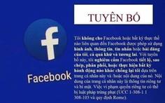 Lại 'tuyên bố Facebook' để bảo mật thông tin cá nhân