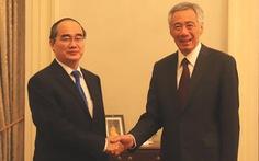 Bí thư Thành ủy TP.HCM Nguyễn Thiện Nhân gặp gỡ Thủ tướng Lý Hiển Long