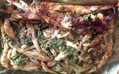 Cá bống suối nướng vùi ngon từ thịt ngọt từ xương
