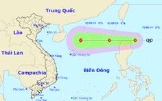 Áp thấp nhiệt đới đang vào Biển Đông, thành bão số 5 trong ngày 2-9