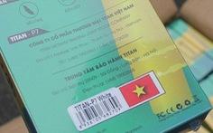Nguyên 1 container phụ kiện điện thoại nhập từ Trung Quốc ghi  'Made in Việt Nam'