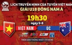 Lịch trực tiếp U18 Việt Nam gặp Úc ở giải U18 Đông Nam Á 2019