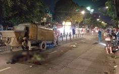 Tông rơmooc trộn bêtông, hai thanh niên chết tại chỗ trên đường Quang Trung