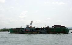 Tạm giữ 12 tàu chở cát chưa rõ nguồn gốc trên biển Vũng Tàu