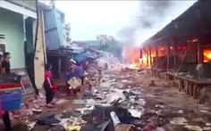 Cháy lớn tại chợ Mộc Bài Bình Định